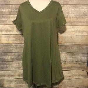 Tops - Green tunic dress.